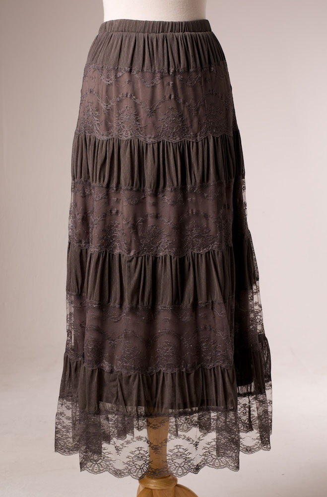 WesternWomenWear.com - Lace Tiered Long Skirt