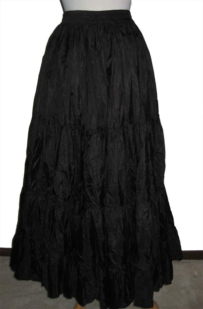 WesternWomenWear.com - Formal long Black Ruffled Skirt (3 days to ...