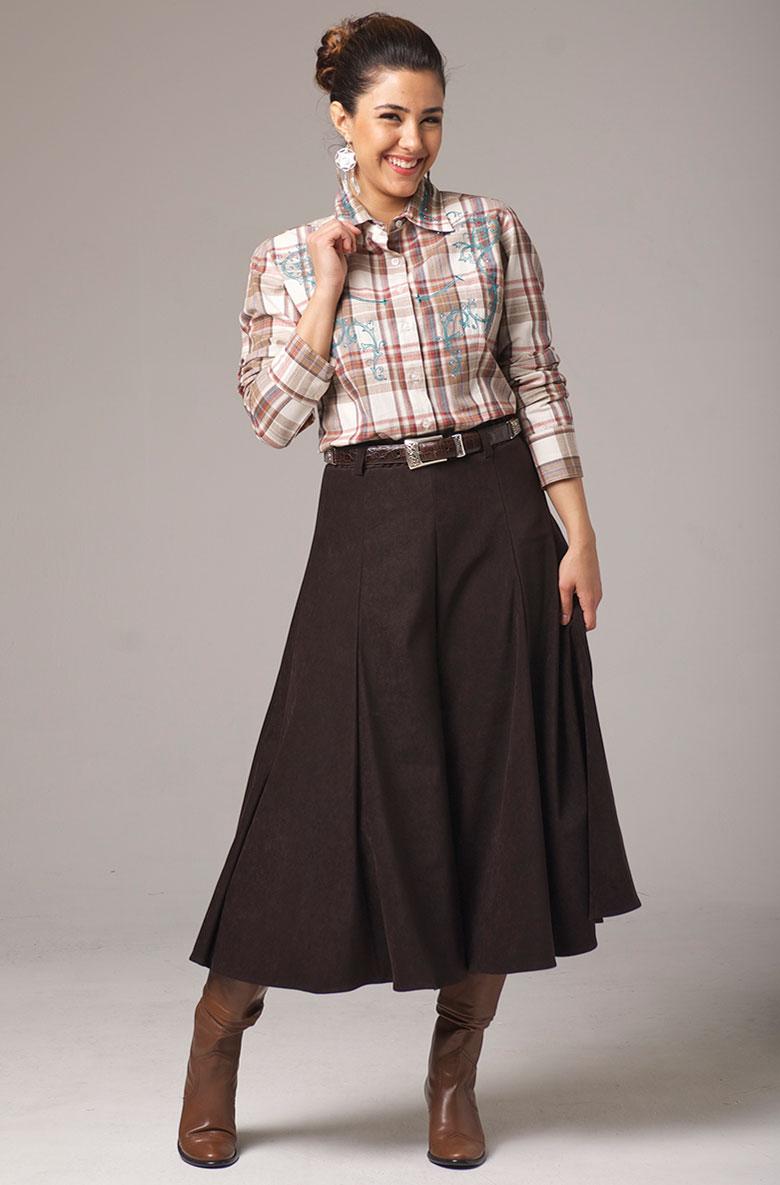 WesternWomenWear.com - Gaucho Pants in Brown - Western wear by Ann ...