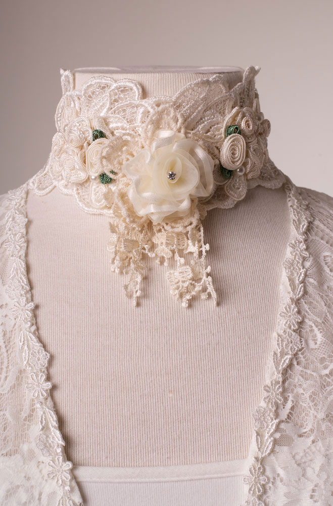 Dress in style - Romantic Victorian Lace Neck Piece - Ann N Eve ...