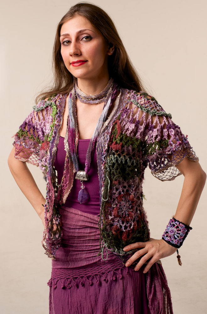 One-Of-A-Kind Sexy Bohemian Hand Knitted Vest