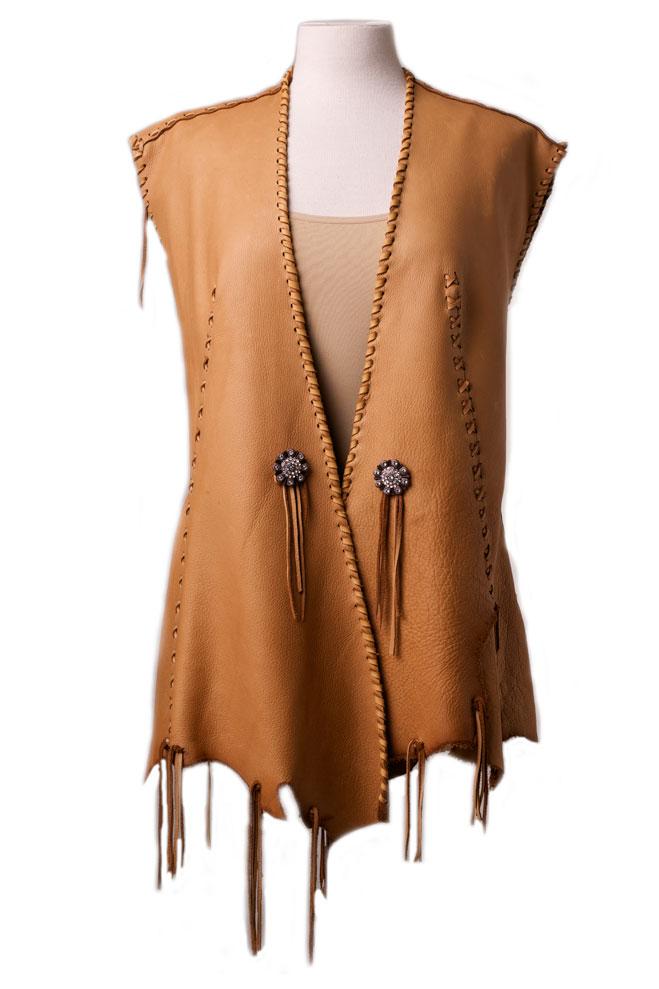 One of a kind Deer Skin Vest (4 weeks to ship). #AE0125