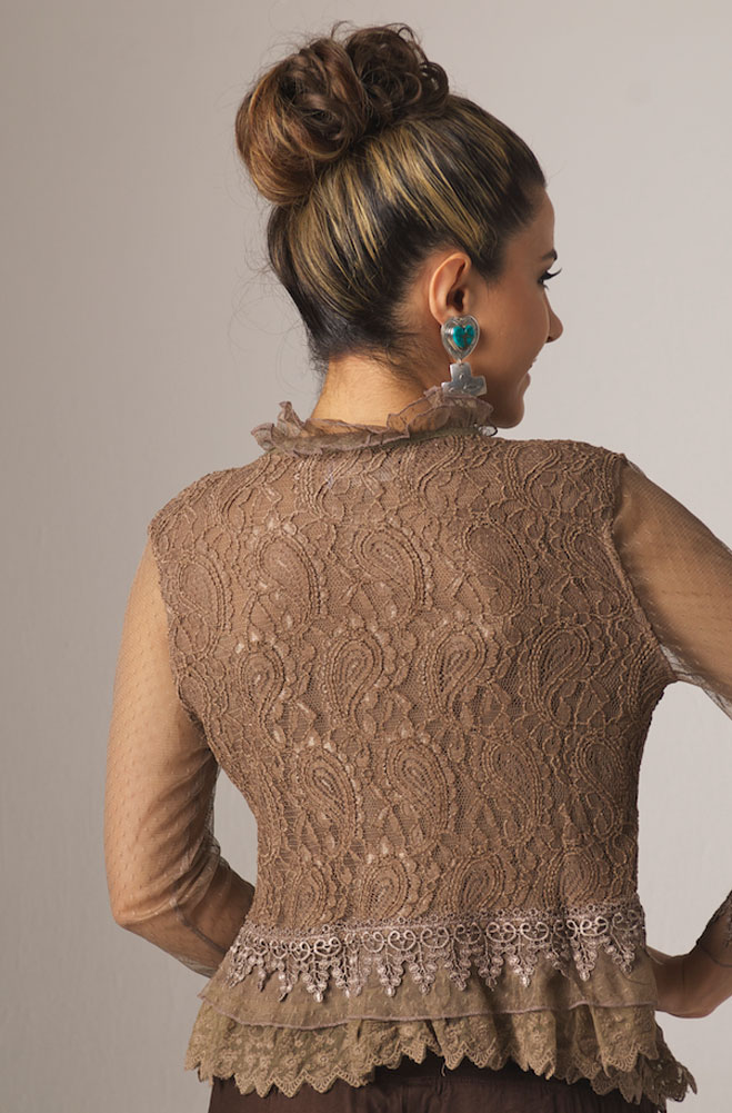 Western Sexy Lacy Top Jacket