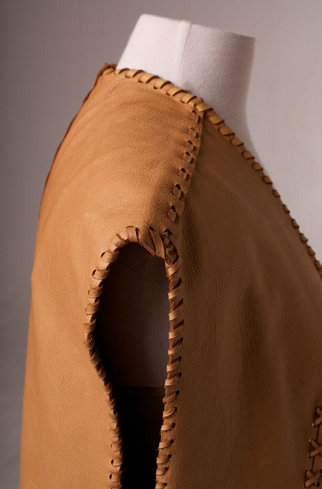 One of Kind Deer Skin Vest (4 weeks to ship)