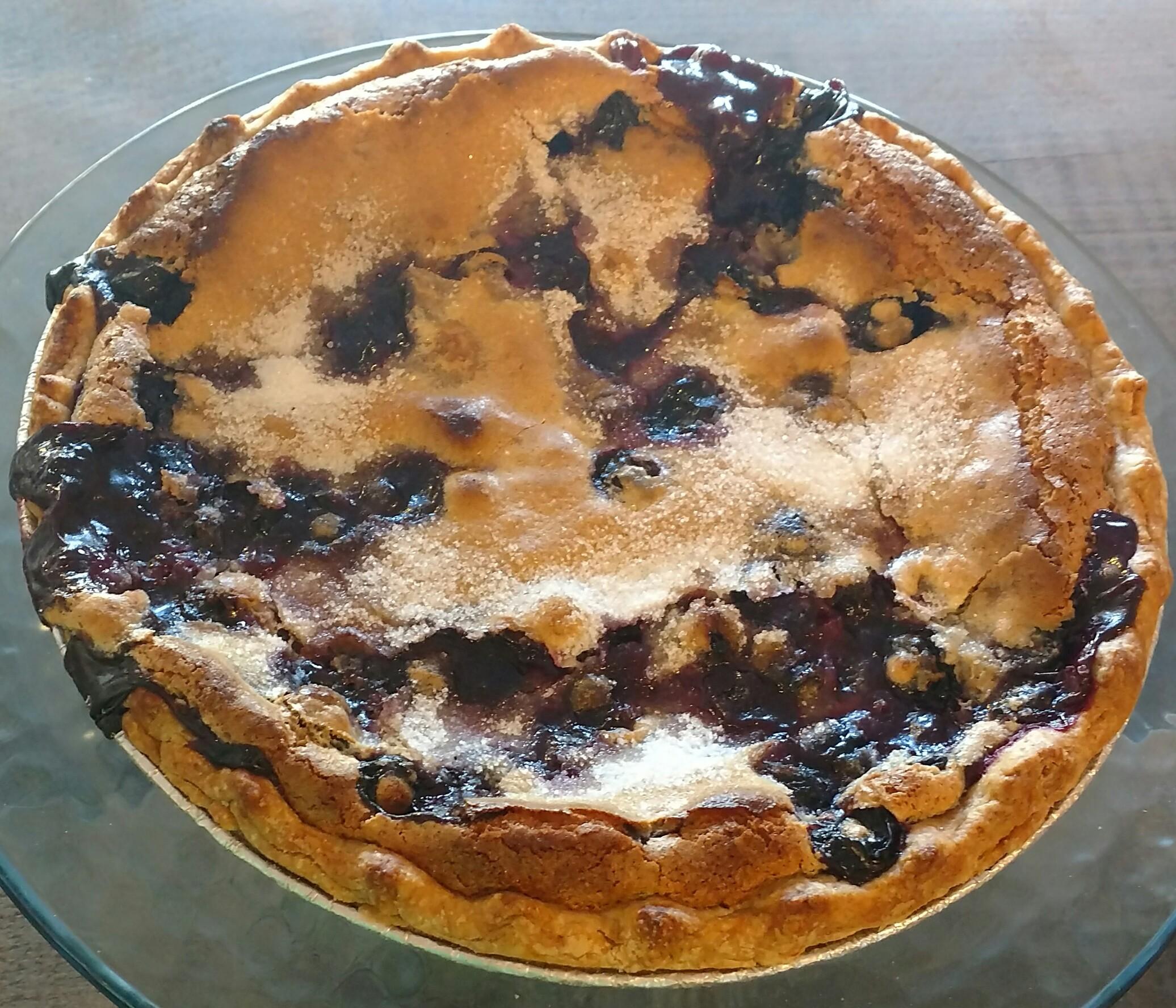 Sour Cream Blueberry Pie
