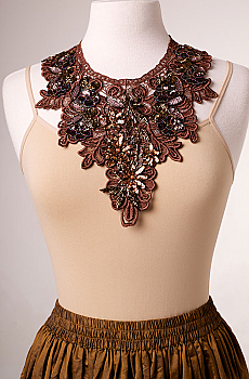 Beaded Copper Neck Piece Necklace. #1609 [Limited Edition]