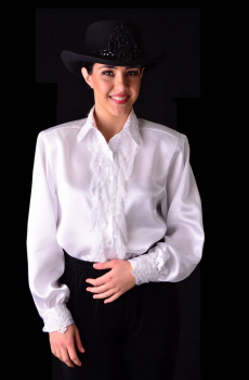 Formal Western Wear Blouse with Sequined Ruffles. #4043