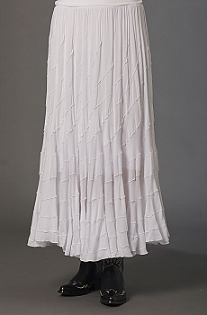 Boho Chic White Western Skirt (7 days to ship). #5062