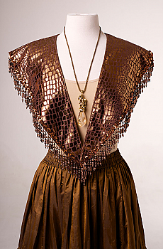 Copper Color Leather Look Shawl (10 days to ship). #AE 2107