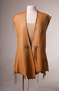 One of a kind Deer Skin Vest (4 weeks to ship). #AE0125