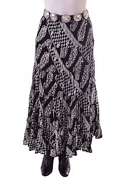 Black and White Paisley Skirt. #BO216