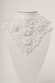 Romantic Brides Venetian Lace Beaded Neckpiece (3 days to ship). #NCK16 [Limited Edition]