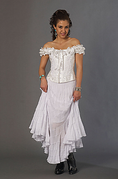 Romantic Frontier Western Wedding Outfit (7 days to ship). #Outfit0070WED [Limited Edition]
