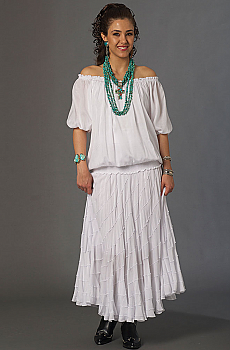 Cowgirl Wedding Peasant Outfit (7 days to ship). #Outfit0071WED [Limited Edition]
