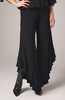 Sexy Long Gaucho Pant with Ruffles. #1409