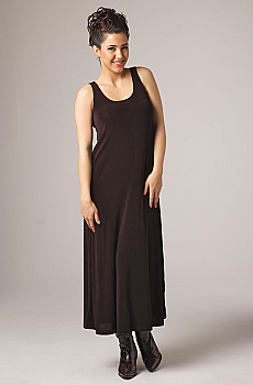 Sleevless Long Scoop Neck Dress. #10017DJO