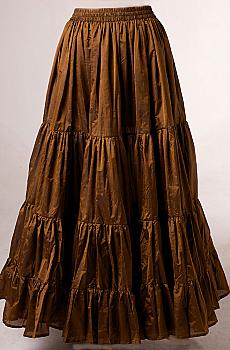Copper Ruffled Skirt. #AE5066 Shiba [Limited Edition]