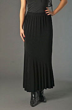 Black Sexy Flounce Formal Skirt (7 days to ship). #ATC531LSP [Limited Edition]