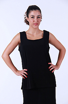 Black Two Way Front Western Tank Top (10 days to ship). #ATC-LB300 [Limited Edition]
