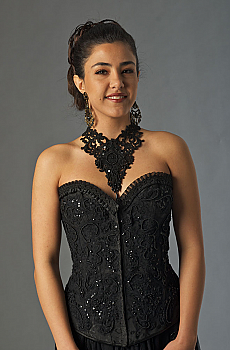 Black Beaded Bustier (3 days to ship). #BT412 [Limited Edition]