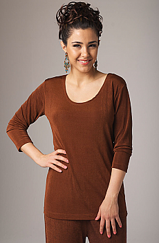 Scoop Neck Copper Color Top. #MG452TP