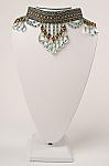 Aqua Color Crystal Handmade Choker (7 Days to ship). #NCK201610-B