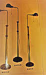 Croby Pharmacy Floor Lamps w/ adjustable Pole 42 - 52 H x 10 B w/ a reach of 16