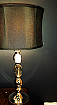 Canora Crystal / Metal table Lamp - 3 way 29 H