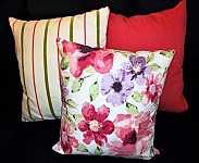 Clarissa Floral Pillow. 18 x 18. Zippered Cover for easy washing.
