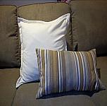 Ivory Velvet Pillow 18 x 18