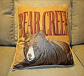 Bear Creek 18 x 18 pillow w/ embroidery