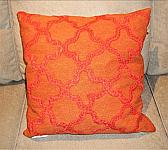 Orange Moroccan Tile Pillow 119 x 19 Pillow