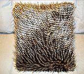 Faux Fur Pillow. 18 x18 Brown