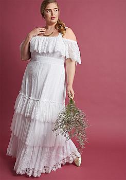 fb3564c2cf23 Western Boho Inspired Wedding Dress. (4 weeks to ship).  DRW1213-