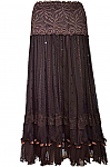 Romantic Western Skirt. #AGL-26787
