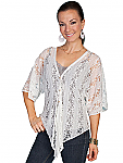 Scully Button Front Lace Top. #HC83
